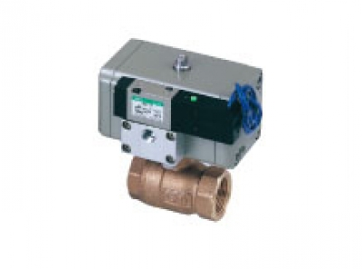 2 port valve with solenoid valve CHB(F)-V_X